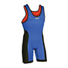 Brute Reversible Wrestling Singlet - Red/Royal - Large