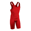 Brute High Cut Wrestling Singlet - Red - Youth Small