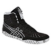Asics Aggressor 4 Wrestling Shoes - Black/Black - 4