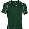 UA Heatgear Armour Youth Fitted Shirt - Forest/White - Youth Extra Small