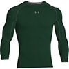 UA Heatgear Armour L/S Compression Shirt - Forest/White - Small