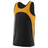 Rapidpace Youth Track Singlet - Black/Gold - Youth Small