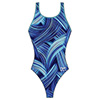 Speedo Turbo Stroke Drop Back Swimsuit - Blue - 26