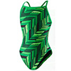 Speedo Angles Free Back Women's Swimsuit - Green - 26