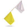 P525YW - FTTF Official Flag yellow/white