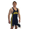 CK  Custom Team Side Braid Lycra Singlet